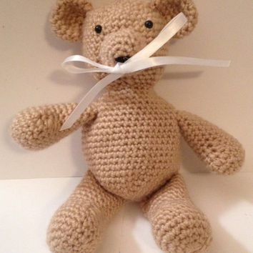 Bear/ Plush Binky/ Pacifier Holder - Any Color Available