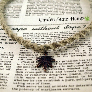 Cannabis Hemp Necklace, Cannabis Necklace, Marijuana Necklace, Pot Leaf Necklace, 420 Necklace, Stoner Necklace, Hemp Weed Leaf Necklace