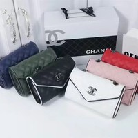 """Chanel"" Simple Fashion All-match Quilted Metal Chain Single Shoulder Messenger Bag Women Small Square Bag"