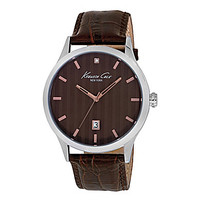 Kenneth Cole New York Men's Rock Out Brown Leather Strap Watch - Brown