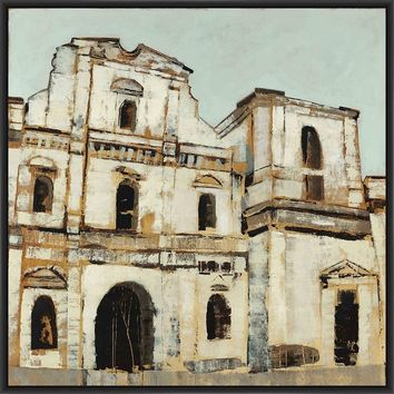 ESPANA 28L X 28H Floater Framed Art Giclee Wrapped Canvas