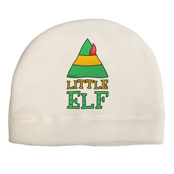 Matching Christmas Design - Elf Family - Little Elf Child Fleece Beanie Cap Hat by TooLoud