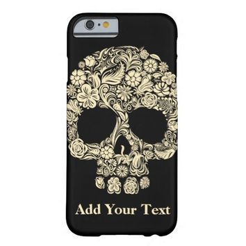 Vintage Floral Sugar Skull Barely There iPhone 6 Case