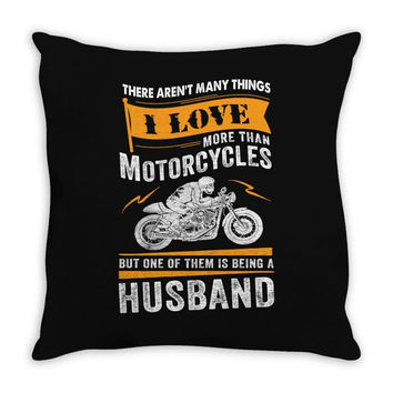 Motorcycles Husband Throw Pillow