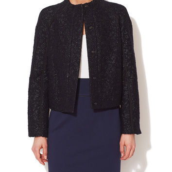 Wool Metallic Boucle Jacket