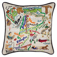 Vermont Hand Embroidered Pillow