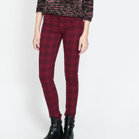 CHECKED TROUSERS - Trousers - TRF | ZARA United Kingdom
