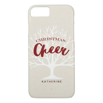 Modern Christmas Cheer Script Holiday iPhone 7 Case