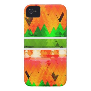 Orange Green Fall themed Wallpaper iPhone 4 Case-Mate Case