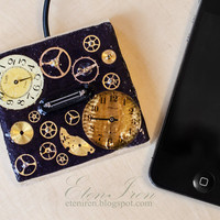 Phone stand / iPhone stand, Docking station for iPhone4, steampunk