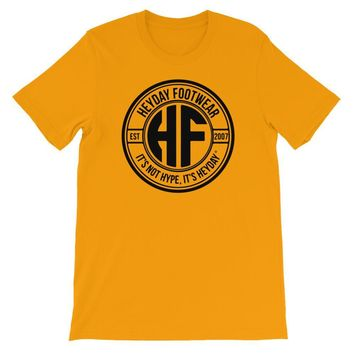 Yellow Heyday Seal unisex short sleeve t-shirt