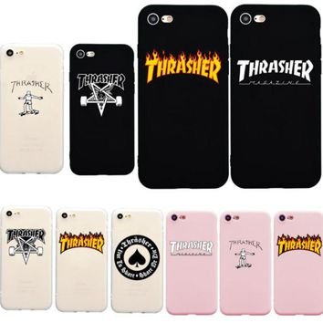 DCCKUG3 Thrasher Magazine iPhone X 5 6 7 8 iPhone Case - Thrasher Phone Case Flame