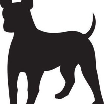 American Hairless Terrier Silhouette Dog Puppy Breed Long Die Cut Vinyl Transfer Decal Sticker