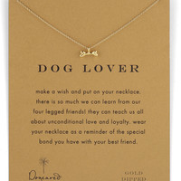 Dog Lover Bone-Pendant Necklace - Dogeared - Gold