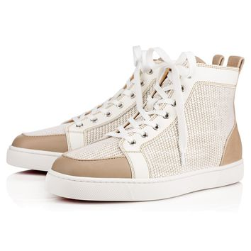 Best Online Sale Christian Louboutin Cl Rantus Men's Flat Version Galet Leather 10s Shoes 1170092m624