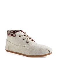 TOMS 'Desert' Burlap & Cotton Boot (Women)