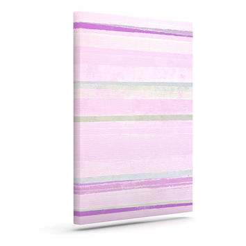 "CarolLynn Tice ""Yogurt"" Pink Gray Canvas Art"