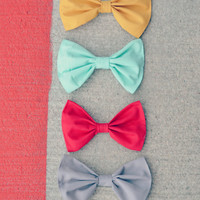 Set of 4 Summer Hair bows