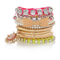 gold tone multi pack bangles