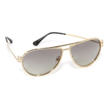 Greca Strass Aviator Sunglasses