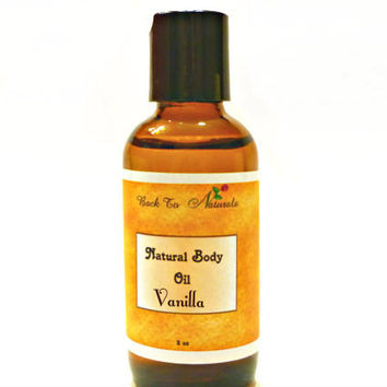 Vanilla Body Oil - Natural Body Oil for Aromatherapy - Scented Coconut Body Oil- Edible Massage Oil
