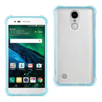 LG Fortune/ Phoenix 3/ Aristo Clear Bumper Case With Air Cushion Protection (Clear Navy)