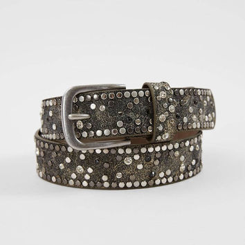 BKE Faux Leather Glitz Belt - Women's Accessories in Grey Gold | Buckle