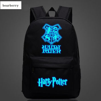 BEARBERRY 2017 Harry Potter nylon Backpacks Luminous Student  School Bag Boy Travel Bags Children Girl Backpacks 13 styles