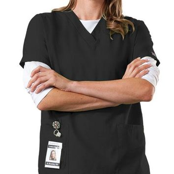 Cherokee WorkWear Women's V-Neck Scrub Tops