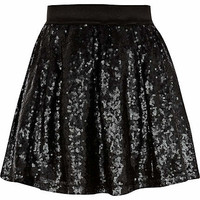 GIRLS BLACK SEQUIN TUTU SKIRT