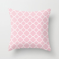 Velveteen Pink Quatrefoil Pillow - Valentine's Day - Pink Throw Pillow - Housewares - Home Decor