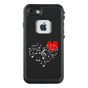 Singing Heart one-of-a-kind LifeProof FRĒ iPhone 7 Case