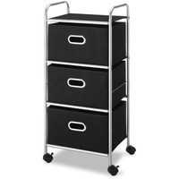 Whitmor 3-Drawer Chest Cart, Silver and Black - Walmart.com