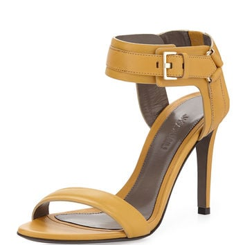 Leather Ankle-Cuff Sandal, Gold - Jason Wu