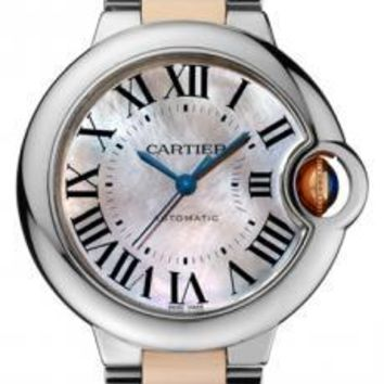 Cartier - Ballon Bleu 33mm - Steel and Pink Gold
