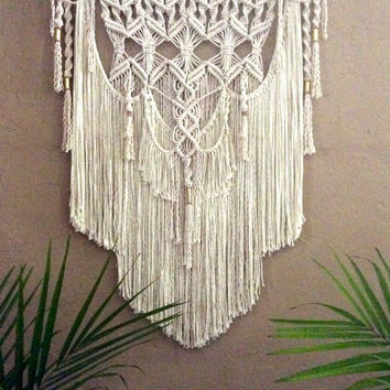 Large Macrame Wall Hanging Tapestry Woven Wall Hanging Bohemian Wall Tapestry Boho Decor Bohemian Art  Macrame Hanging Hippie Decor