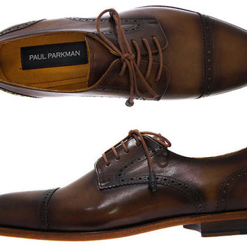 Paul Parkman Men's Brown / Tobacco Derby Shoes Leather Upper and Leather Sole