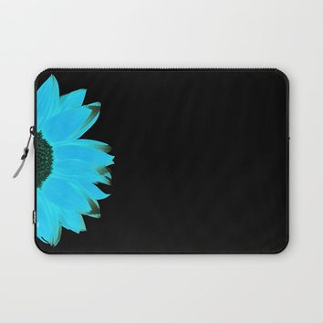 portrait of summer - blue black Laptop Sleeve by Steffi Louis