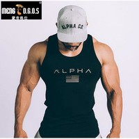 Mens Summer gyms Fitness Tank
