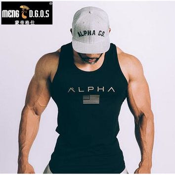 2018 Men Summer gyms Fitness bodybuilding Hooded Tank Top fashion mens Crossfit clothing Loose breathable sleeveless shirts Vest