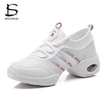 New 2018 Women Dance Shoes Jazz Hip Hop Shoes Salsa Sneakers For Woman Modern Platform Dancing Ladies Shoes Footwear For Women