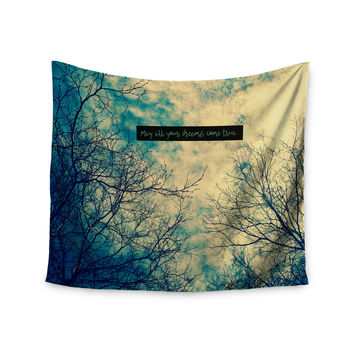 "Robin Dickinson ""May All Your Dreams Come True"" Blue Nature Wall Tapestry"