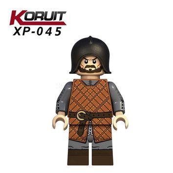XP045 Legoing Figures Winterfell Soldier Army Game of Thrones Season A Song of Ice and Fire Movie Toy Children Legoing Movie