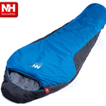 NatureHike Multifuntional Ultralight Portable Mini nylon mummy shape Outdoor Camping Travel Hiking Sleeping Bag 1100g 2 Colors