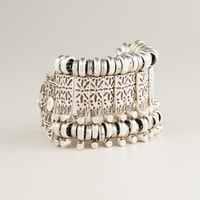 Silver Etched Row Bracelet - World Market