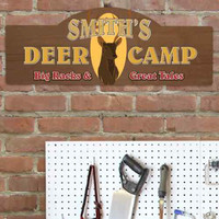Personalized Deer Camp Sign