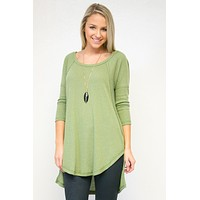 Ribbed Wonder 3/4 Sleeve Top
