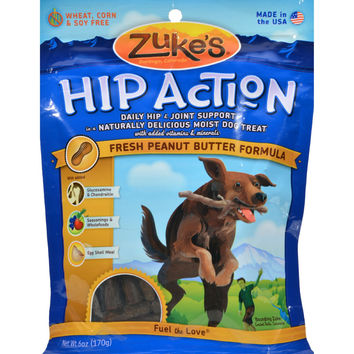 Zuke's Hip Action Dog Treats Peanut Butter - 6 oz
