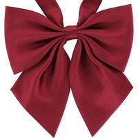 Tok Tok Designs® Handmade Women Bow Ties - W19 (Wine Color)