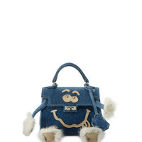 Readymade Mini Monster Denim Top-Handle Bag